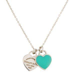 Tiffany & Co. Jewelry - Tiffany&Co Mini Double Heart Necklace